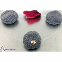 schwebender Stein - transparente Kette in goldfarben - fliegender Stein unsichtbare Halskette Bild 1