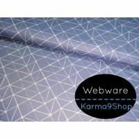 0,5m Webware Kurt Geometrische Linien rauchblau Bild 1