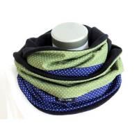 Loop Damen Punkte blau grün Schlauchschal Fleece Kuschelschal warmer Schal   Bild 1
