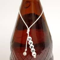 Geschenkanhänger für Flaschen, Flaschenanhänger, Schlüsselanhänger für Weihnachten mit Wunschtext und Metallanhänger nac Bild 1