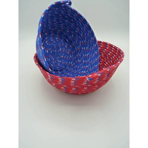 Rope Bowl / Korb / Seilkorb / Schale / Aufbewahrungskorb / Obstkorb / Obstschale / Nussschale  handgefertigt