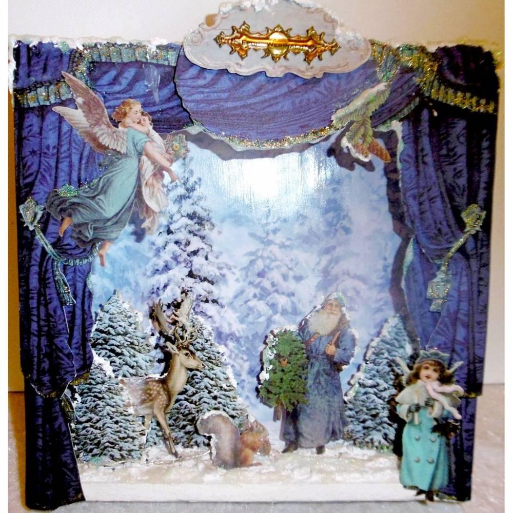 Beleuchtete Shadowbox * Weihnachten * Weihnachtsdeko * Winter Wonderland * Dekoration * Geschenk Bild 1