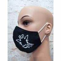 Mund-Nasen-Maske Schnuttenschlüppi mit Giraffe Bild 1