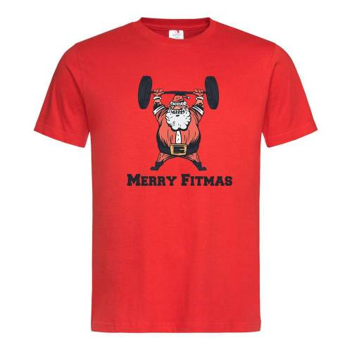T-Shirt mit Fitnessweihnachtsmann Motiv