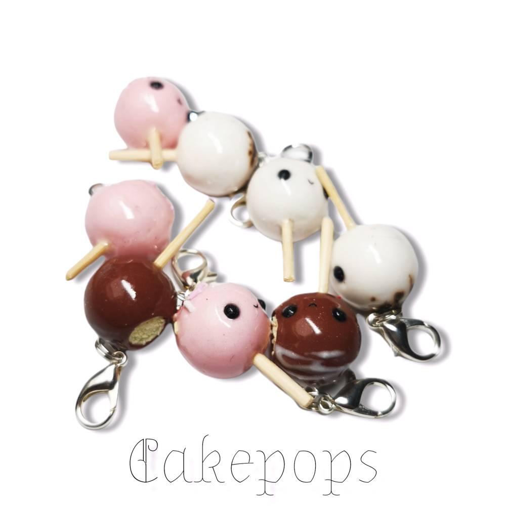 Cakepops, Kawaii aus Fimo, Geschenkidee, Charm Bild 1
