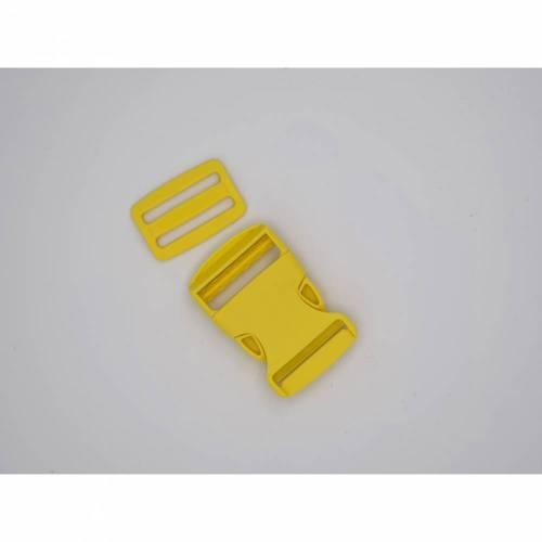 Steckschnalle 25mm gelb