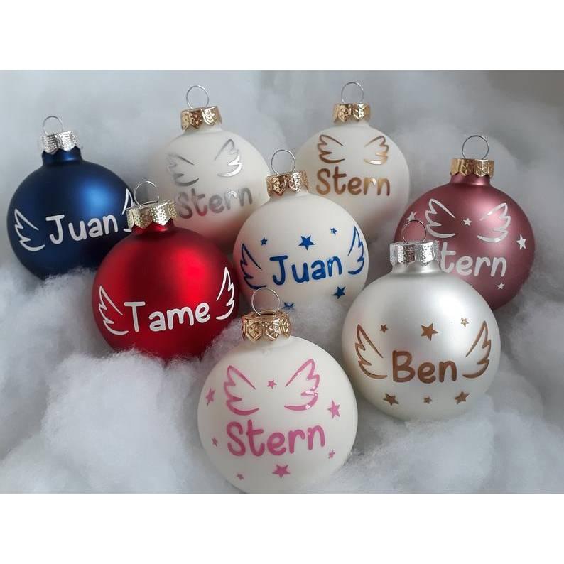 Weihnachtskugel Stern Sternenkind personalisiert Regenbogenbaby Engelskind Schmetterlingskind Trauer Bild 1