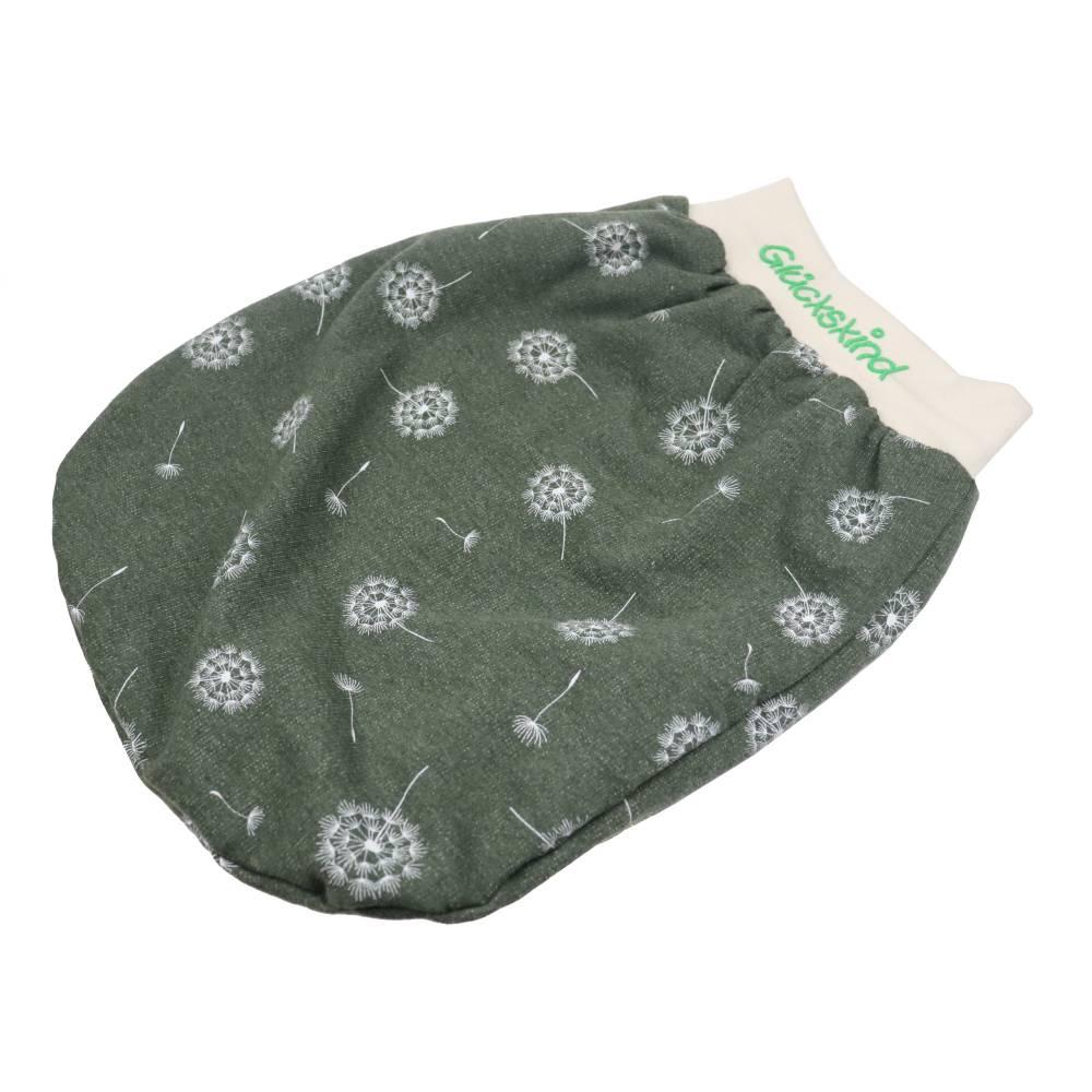 Schlafsack Pusteblume Strampelsack Pucksack Sommerschlafsack für Babys mit Namen - personalisiertes Geschenk Baby Bild 1