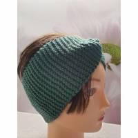Twist-Stirnband, gestrickt, flaschengrün Bild 1