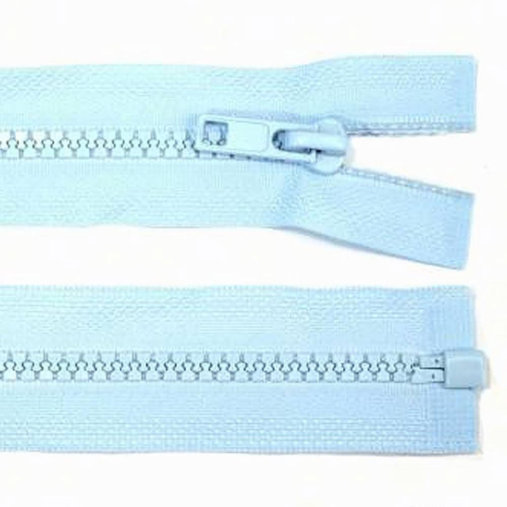 65cm Reißverschluss hellblau - teilbar für Jacken Bild 1