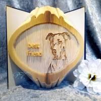 """Hunde Portrait mit Schriftzug """"best friend"""" - gefaltetes Buch Bild 1"""