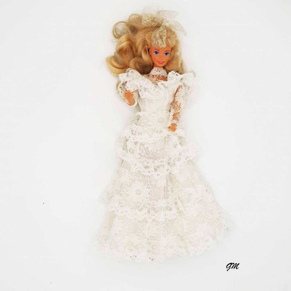 vintage, original Barbie von Mattel, 1966 aus den 80er Jahren mit Brautkleid, 30 cm,  Bild 1