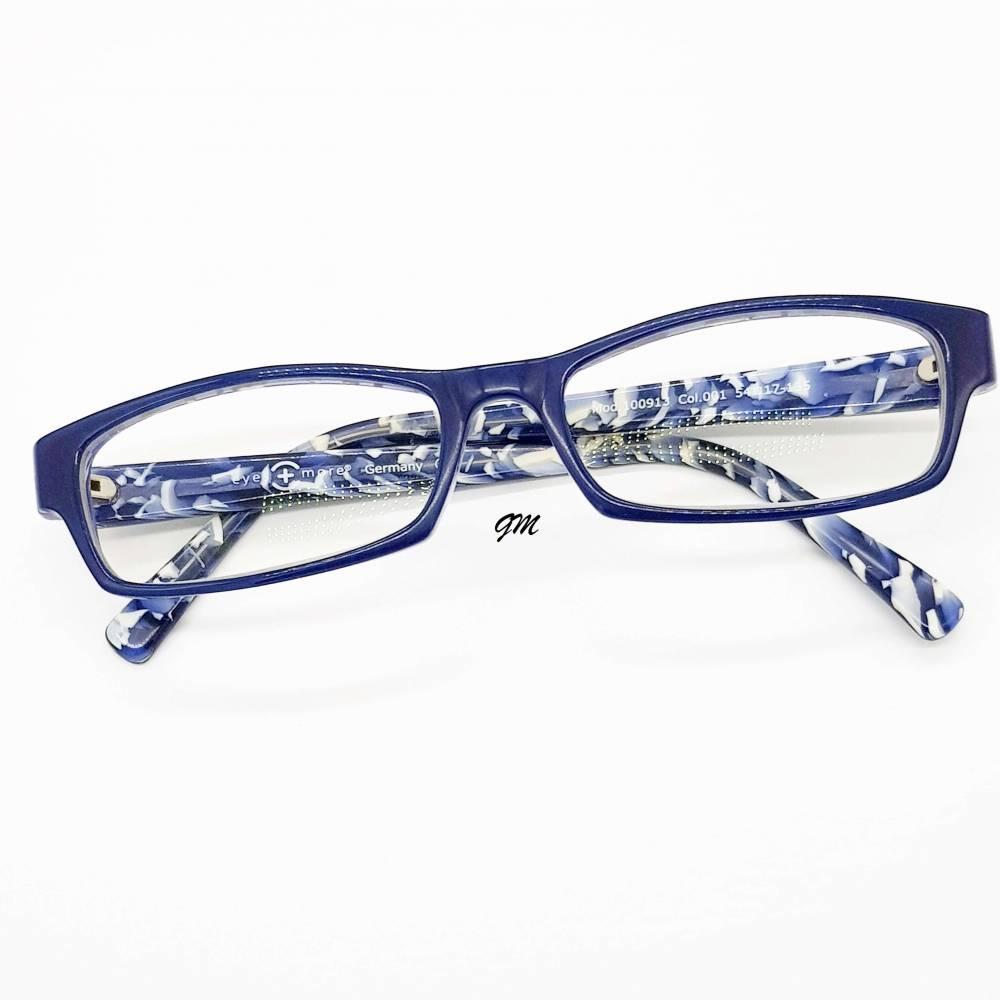 Retro - vintage original 80/90er Jahre Brillenfassung mit Gläsern, blau Kunststoff  Bild 1