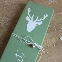 """Kleines Holzschild zum Anlehnen """"Weihnachtszeit"""" aus der Manufaktur Karla Bild 10"""