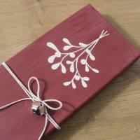 """Kleines Holzschild zum Anlehnen """"Weihnachtszeit"""" aus der Manufaktur Karla Bild 6"""