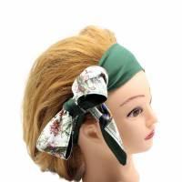 Haarband * Knotenhaarband * zum wenden und zum binden * Bindegürtel * Krawatte * Haarschleife Bild 4