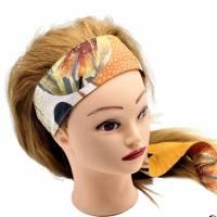 Haarband * Knotenhaarband * zum wenden und zum binden * Bindegürtel * Krawatte * Haarschleife Bild 7