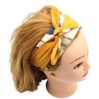 Haarband * Knotenhaarband * zum wenden und zum binden * Bindegürtel * Krawatte * Haarschleife Bild 9