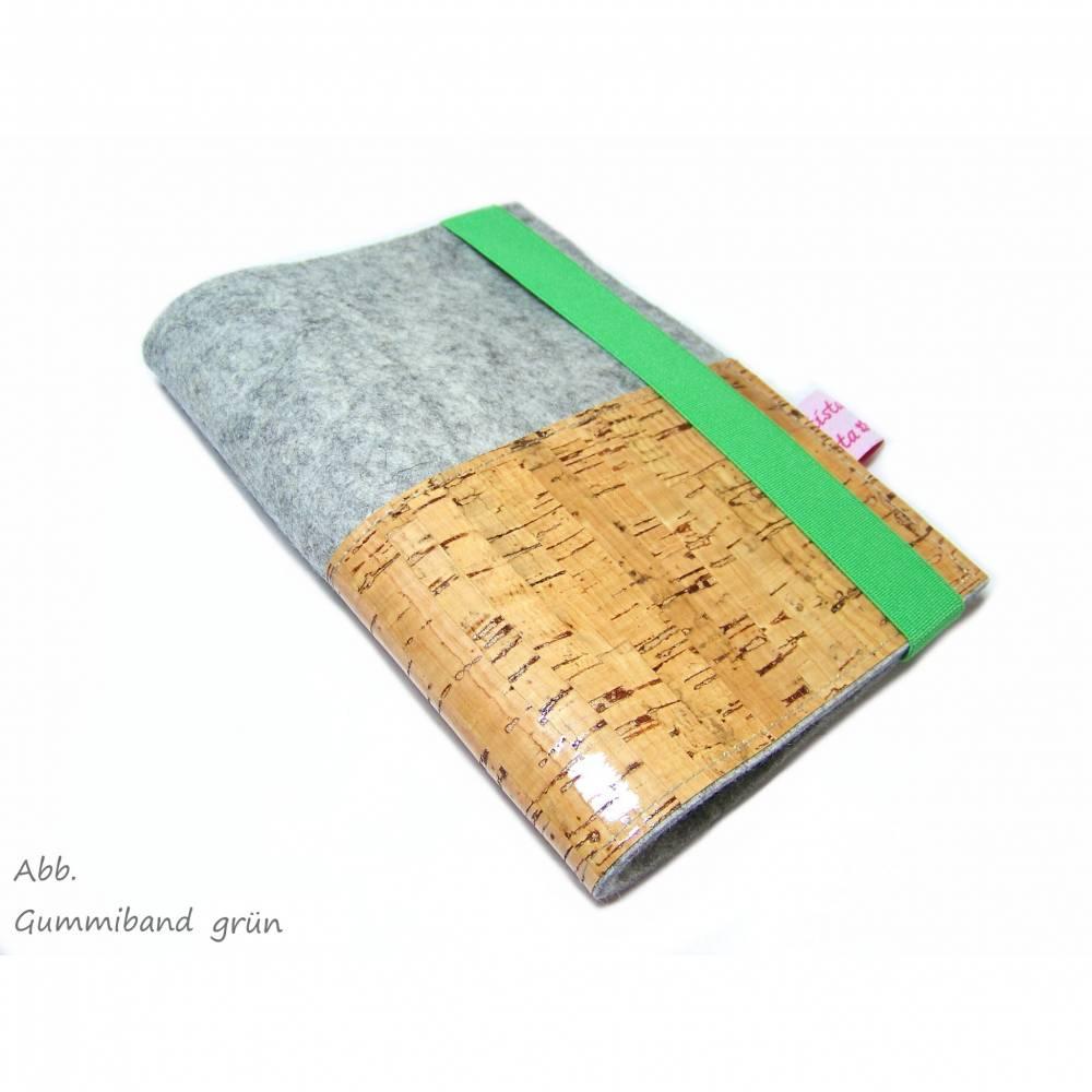Mutterpasshülle Wollfilz Filz Kork / Geschenk für Schwangere Bild 1