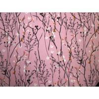 Wildblumen-Sweat rosa Rest 0,75m Bild 1