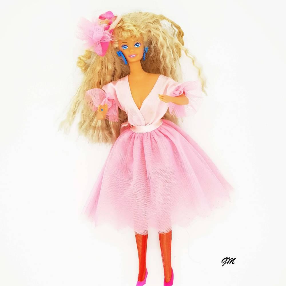 vintage, original Barbie von Mattel, 1966 aus den 80er Jahren mit Kleidung,  30 cm,  Bild 1