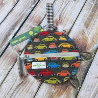 Kleines Kugel-Täschchen mit Autos für Kopfhörer und Co. Geschenk-Verpackung Bild 1