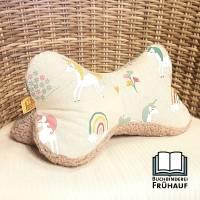 Leseknochen Einhorn Lesekissen Nackenkissen mit Kuschelseite Kissen Bild 1