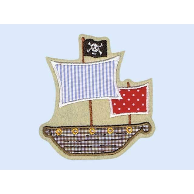 Applikation Piratenschiff Schiff Jungs-Aufnäher Bild 1