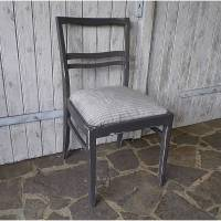 Vintage Stuhl - 50er Jahre - Polsterstuhl - grau - shabby chic Bild 1