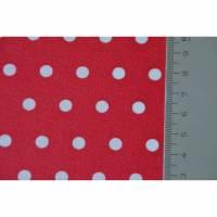 Baumwollstoff beschichtet Wachstuch rot mit Punkten Tupfen 25 cm x 150 cm  Bild 1