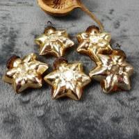 Weihnachtsdeko 5er Set Glashänger, Sterne Weihnachten, Stückpreis 2€, Christbaumschmuck, edel, gold, Material Bild 1