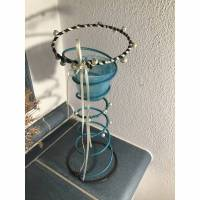 Upcycling Kerzenständer, Kerzenhalterung, alte Bettfeder, Kerzenhalter  Bild 1