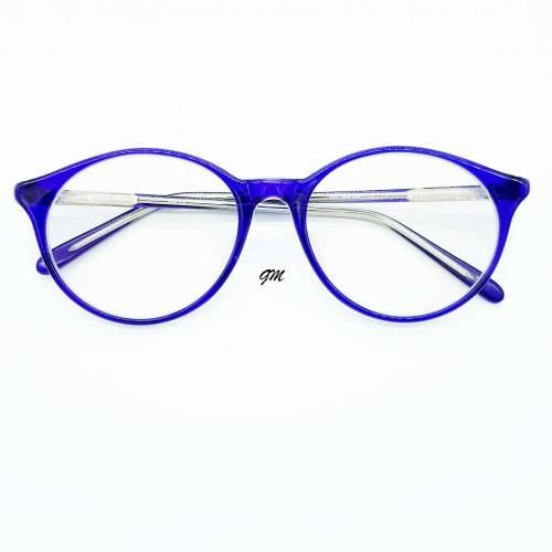 Retro - vintage original 80/90 er Jahre Brillenfassung blau Metall Kunststoffüberzogen