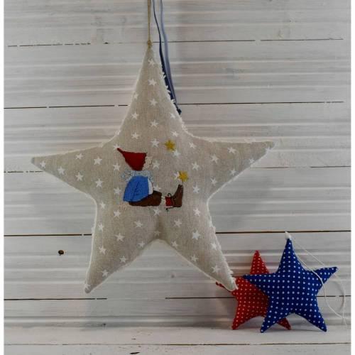 winterlicher Stern - Stoffstern - Wichteljunge