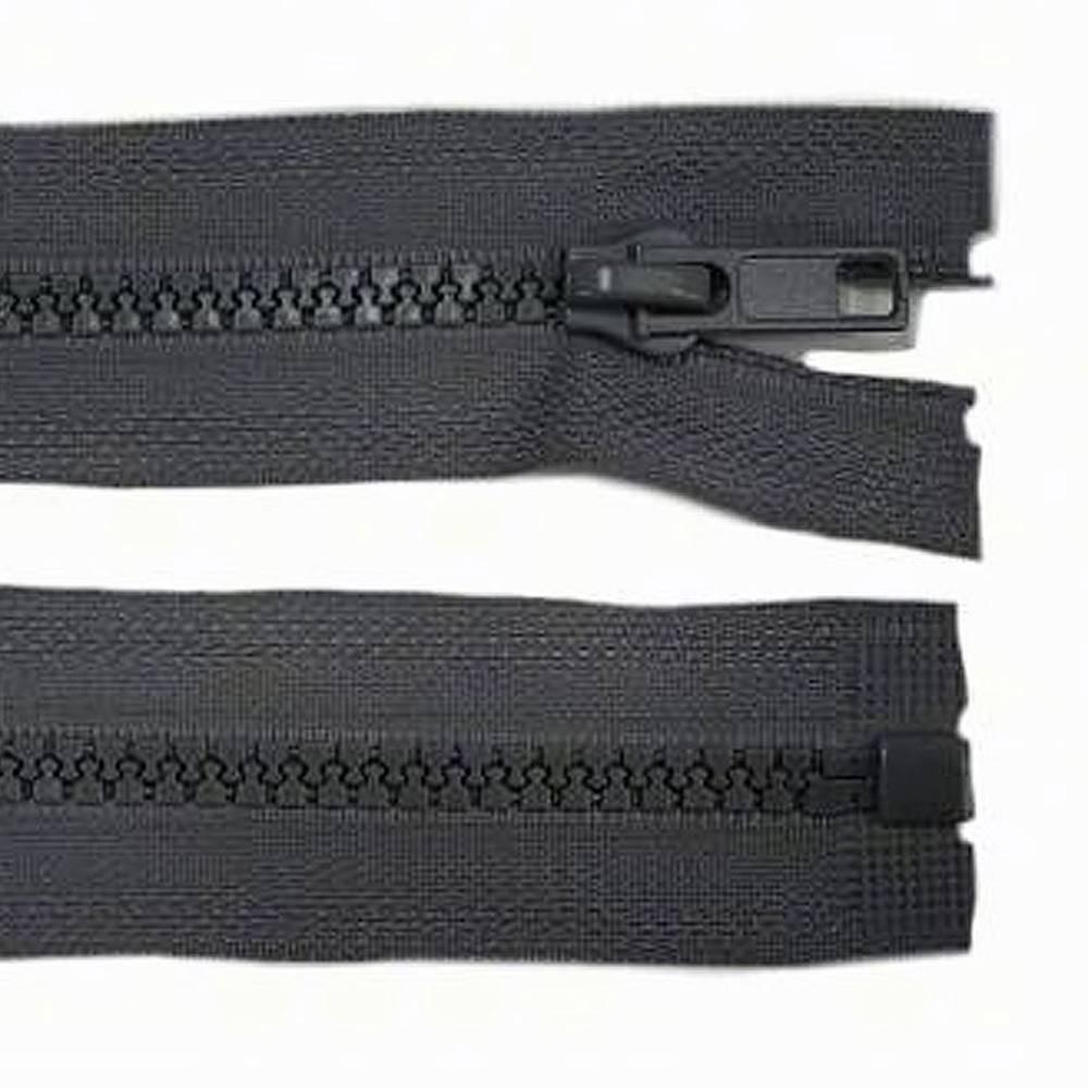 30cm Reißverschluss grau - teilbar für Jacken Bild 1