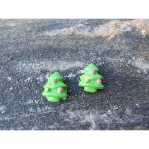 Mini Weihnachtsbäume   Ohrstecker kawaii