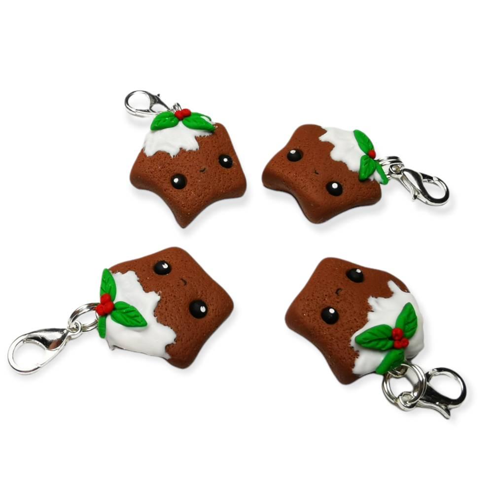 1x Lebkuchenstern, aus Fimo, Geschenkidee, Weihnachten, Weihnachtszeit Bild 1