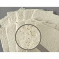 10 handgeschöpfte Kärtchen, cremeweiß mit Glitzerpigmenten, ca. 10,5 cm x 11 cm, ca. 210 g/qm bis 300 g/qm  Bild 1