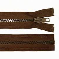 55cm Reißverschluss braun - teilbar für Jacken Bild 1