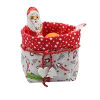 Weihnachtsbox, zum wenden und zum binden in Rot mit Sternen Bild 5