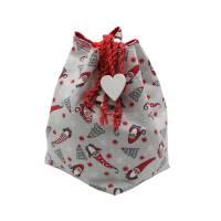 Weihnachtsbox, zum wenden und zum binden in Rot mit Sternen Bild 6