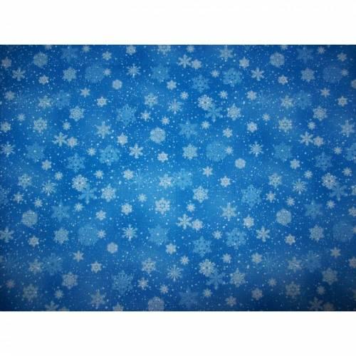 Mundschutz Erwachsene Weihnachten Winter Schneeflocken hellblau mit weichem, schmalen Gummiband  ohne Nasenbügel