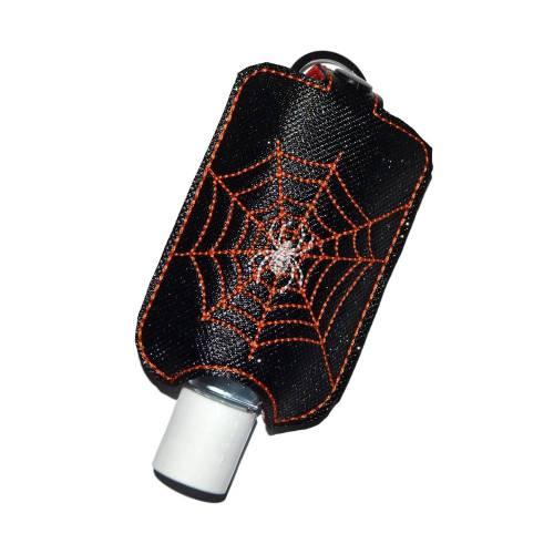 Desinfektionsmittelhalter Spinne im Netz Kunstleder