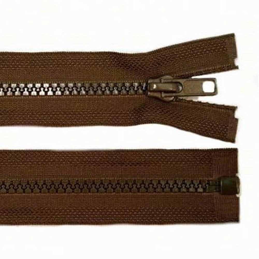 70cm Reißverschluss braun - teilbar für Jacken Bild 1