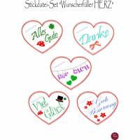 """Stickdatei-Set  """"Wunscherfüller HERZ""""  Bild 1"""