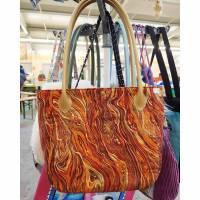 Tasche Herbstfarben mit Goldschimmer Bild 1