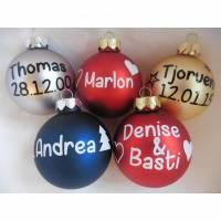 Weihnachtskugel mit individuellem Name | personalisierte Christbaumkugel | Weihnachtskugel | Christbaumschmuck, Advent Bild 1
