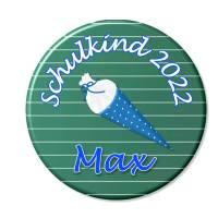 Button Schulkind,Einschulung, Schultüte blau, personalisiert, Füllung für Schultüte Bild 1
