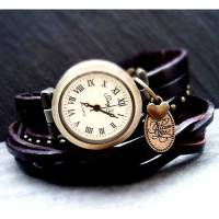 Armbanduhr, Wickeluhr, Uhr, Damenuhr, Lederuhr, Vintage-Stil,  love you Bild 1
