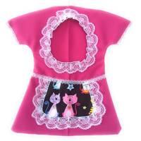 Klammerkleid, Wäscheklammerbeutel, Klammerkleidchen, Schürzchen mit Katzen Bild 1
